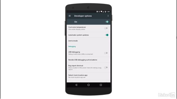 Connect a physical device for testing: Android App Development Essentials: Create Your First App