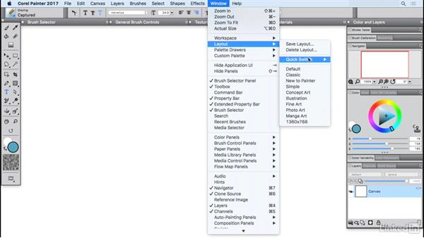 Organizing with layouts: Painter 2017 Essential Training