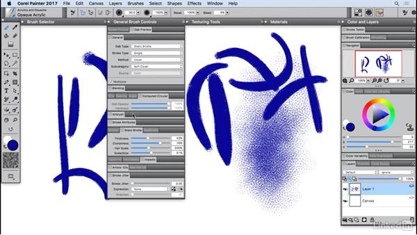 Resetting brush properties: Painter 2017 Essential Training