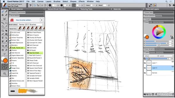 Drawing with hard media: Painter 2017 Essential Training
