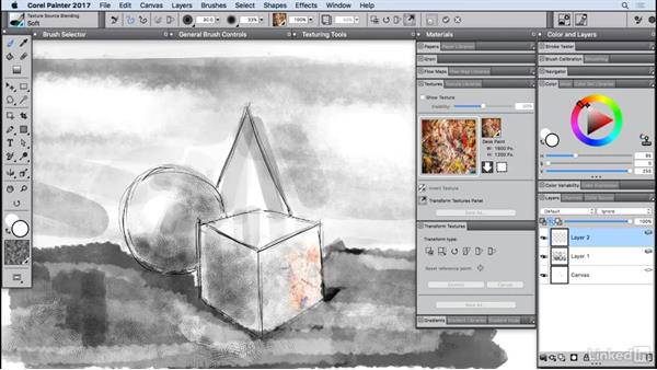 Enhancing with texture painting: Painter 2017 Essential Training