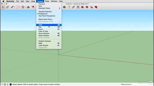 Interface basics for the Mac: SketchUp 2017 Essential Training