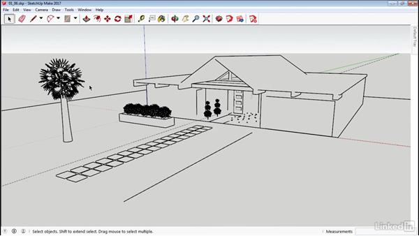 Shade faces and edges: SketchUp 2017 Essential Training