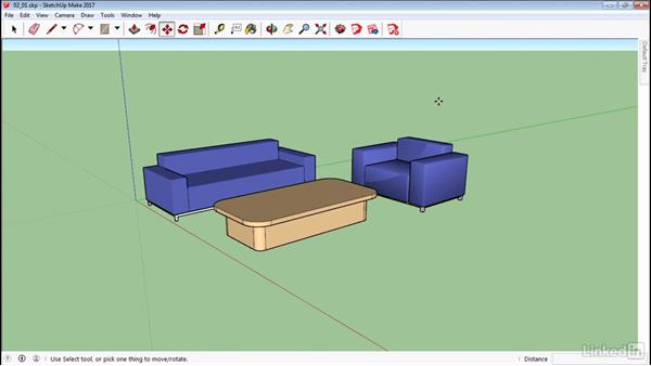 Select and move objects: SketchUp 2017 Essential Training