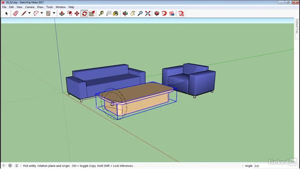 Scale and rotate objects: SketchUp 2017 Essential Training