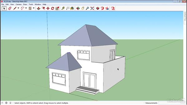 Manipulate faces and edges: SketchUp 2017 Essential Training