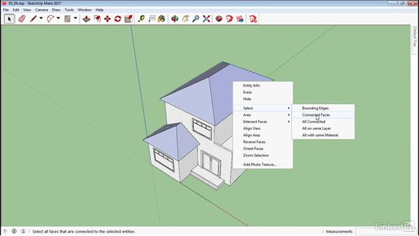 Advanced selection tools: SketchUp 2017 Essential Training