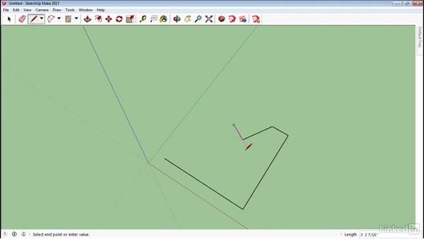 Line tool fundamentals: SketchUp 2017 Essential Training