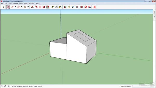 Use the Eraser tool: SketchUp 2017 Essential Training