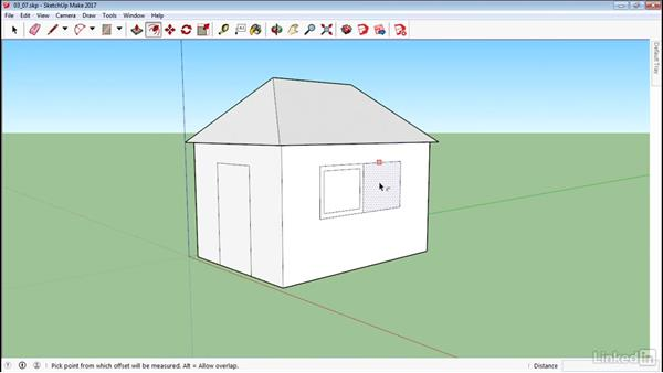 Create outlines with Offset: SketchUp 2017 Essential Training
