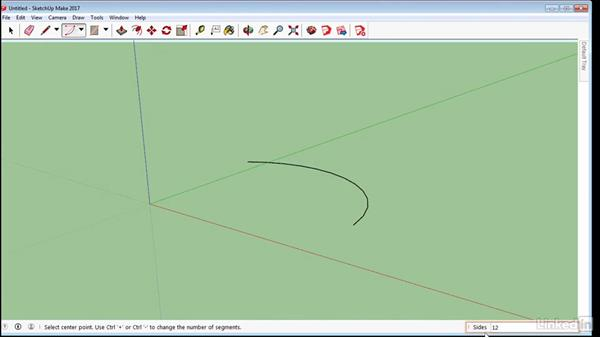 Draw curved and freehand shapes: SketchUp 2017 Essential Training
