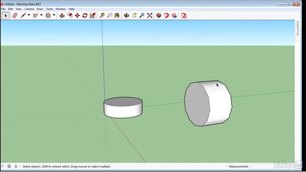 Create circles and polygons: SketchUp 2017 Essential Training