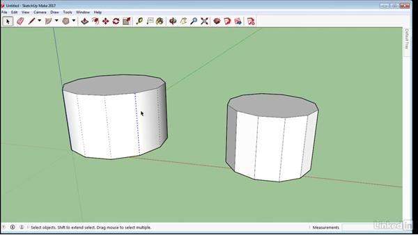 Soften and smooth edges: SketchUp 2017 Essential Training