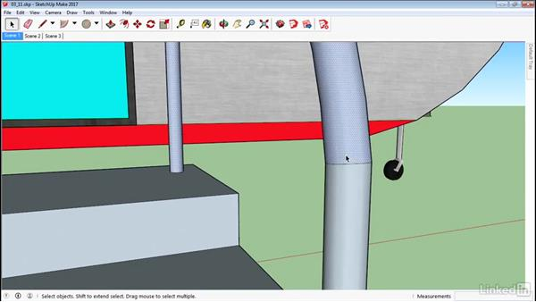 Use the Follow Me tool: SketchUp 2017 Essential Training
