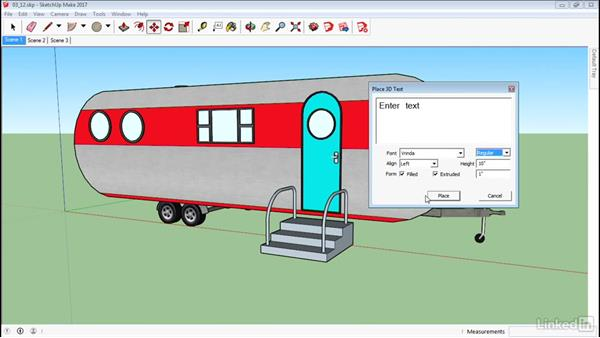 Create 3D text: SketchUp 2017 Essential Training