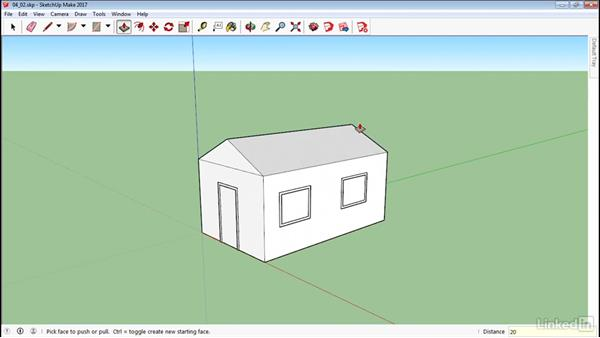 Use the Protractor tool: SketchUp 2017 Essential Training
