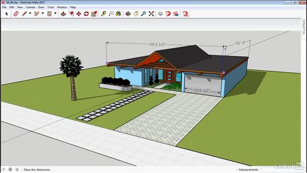 Dimensioning: SketchUp 2017 Essential Training