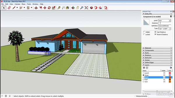 Work with layers: SketchUp 2017 Essential Training
