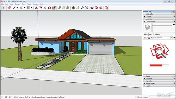 The Component window: SketchUp 2017 Essential Training