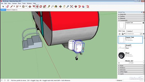 Create components: SketchUp 2017 Essential Training