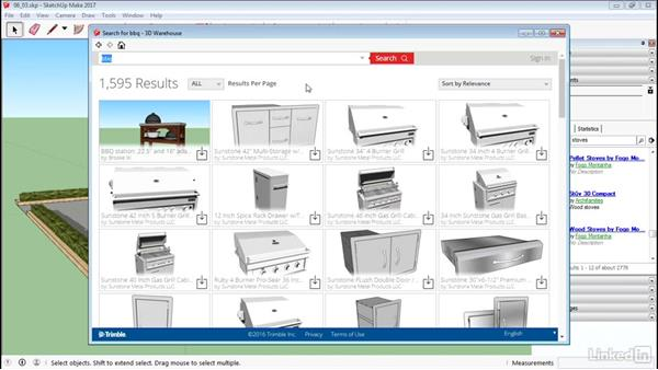 Use the 3D Warehouse: SketchUp 2017 Essential Training