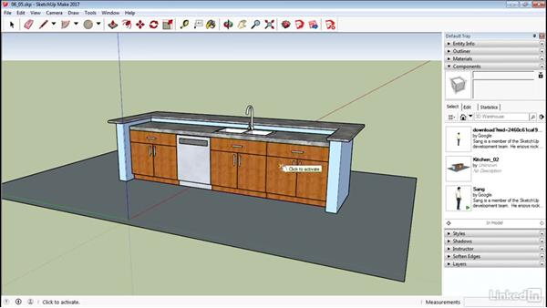 Use the Interact tool: SketchUp 2017 Essential Training