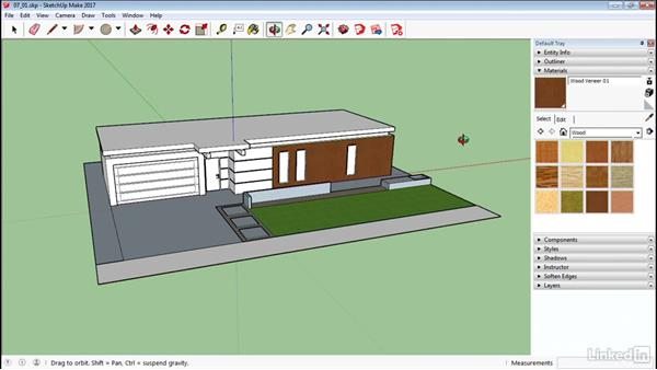 Apply materials: SketchUp 2017 Essential Training