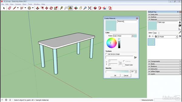 Create materials: SketchUp 2017 Essential Training