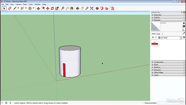 Map curved objects: SketchUp 2017 Essential Training