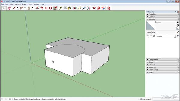 Projection maps on curved objects: SketchUp 2017 Essential Training