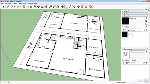 Create a floor plan using bitmaps for Floor plans in sketchup