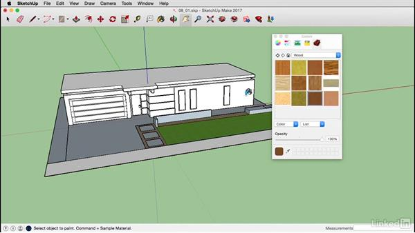 Apply materials on a Mac: SketchUp 2017 Essential Training