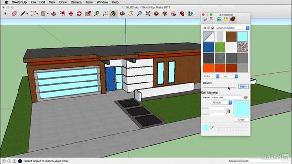 Edit materials on a Mac: SketchUp 2017 Essential Training