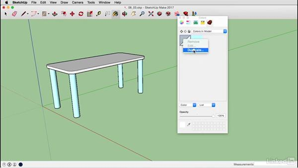 Create materials on a Mac: SketchUp 2017 Essential Training
