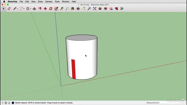 Map curved objects on a Mac: SketchUp 2017 Essential Training
