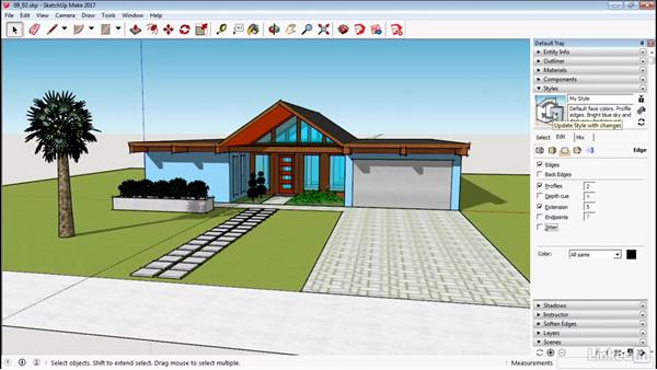 Edit and create styles: SketchUp 2017 Essential Training