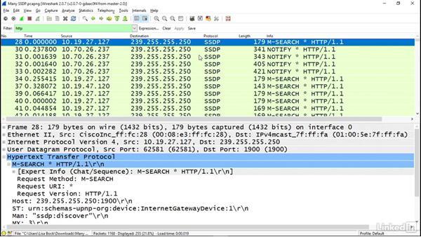 SSDP amplification attack