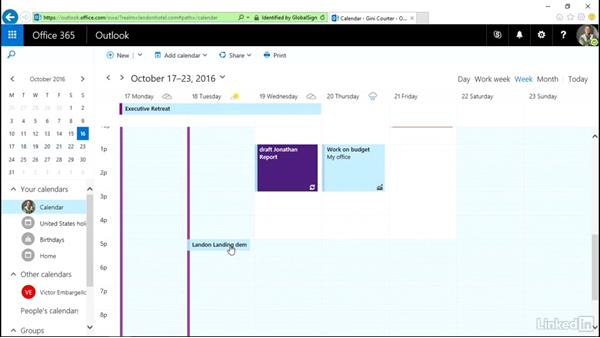 Respond to a meeting invitation: Outlook on the web Essential Training