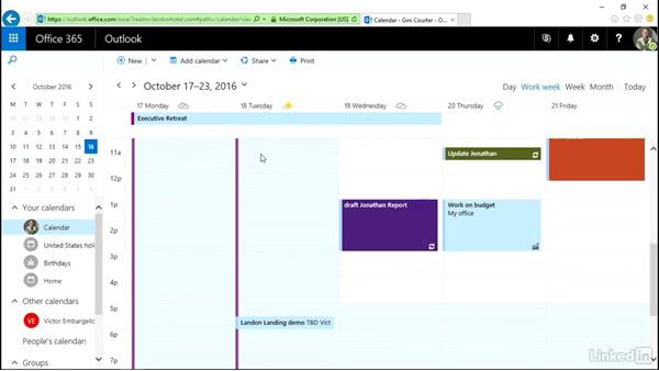 Create a meeting from email or scratch: Outlook on the web Essential Training