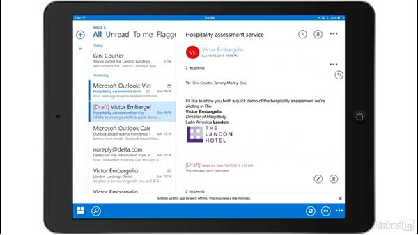 View and respond to email with OWA for iOS: Outlook on the web Essential Training