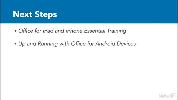 Next steps: Outlook on the web Essential Training