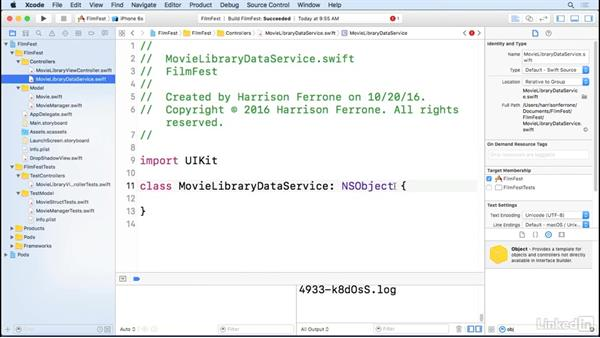 Data source and delegate setup: iOS Test-Driven Development Fundamentals
