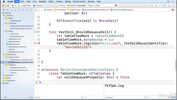 Mocking the TableView cell: iOS Test-Driven Development Fundamentals