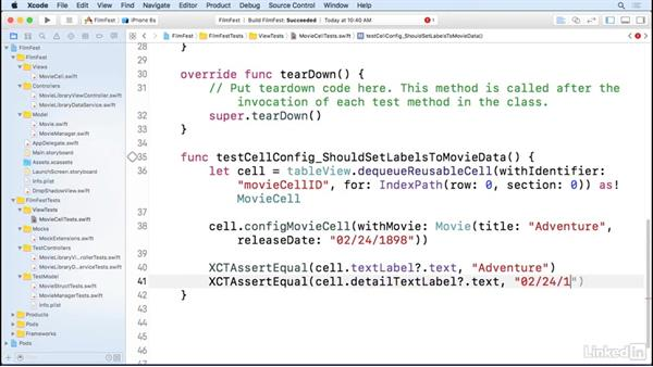 Testing cell selection: iOS Test-Driven Development Fundamentals