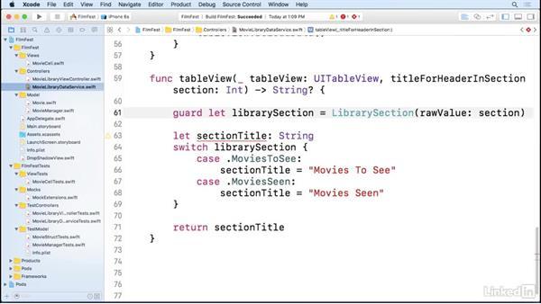 Assembling the app: iOS Test-Driven Development Fundamentals