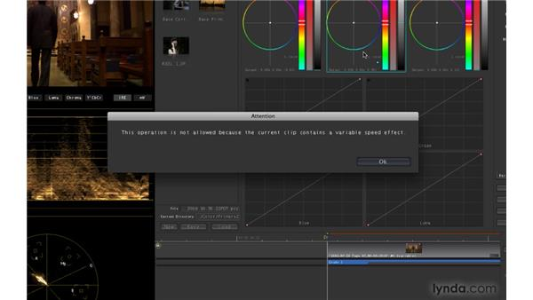 Working with speed-adjusted clips: Color 1.5 New Features