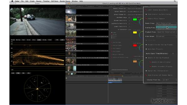 Working with RED 4K files as RED QuickTime media: Color 1.5 New Features