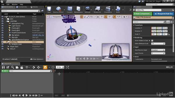 Camera animation in sequencer: Unreal Engine Motion Graphics Techniques