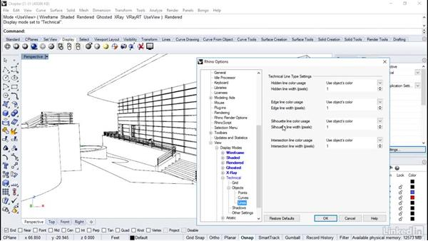 Customizing view modes: Rhino Project: Architectural Documentation