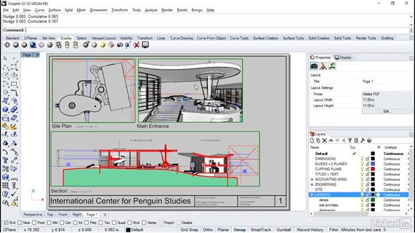 Creating layout pages: Rhino Project: Architectural Documentation